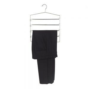Vastra Stainless Steel 5 Tier Pant Hanger For Wardrobes (Black)