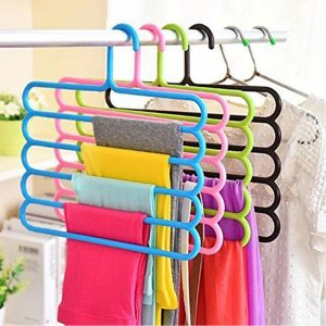 Vastra Plastic 5 Layer Multipurpose Hanger for Clothes Pants Ties Wardrobe