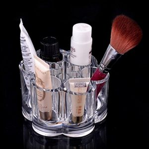 Cosmetic Make Up Clear Acrylic Lipstick Nail Paint Organizer with 6 Sections