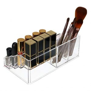 Vastra 16 Compartment Cosmetic Makeup Jewellery Lipstick Storage Organiser Holder Box, 22Lx13Wx8H