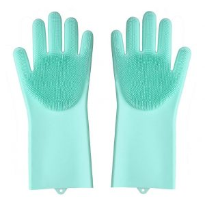 Vastra Silicone Scrubbing Gloves, Scrub Cleaning Gloves with Scrubber for Dish-Washing and Pet Grooming