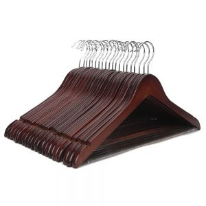 Vastra Brown Wooden Hangers, Brown Cherry Wooden Garment Hangers,Wooden Suit Hangers, Coat Hangers