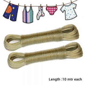 Vastra Clothesline 10 metres Each Rope PVC Coated Metal Drying Wire for Drying Clothes