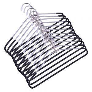 Vastra  Steel Hanger (Black and Silver,16.2×39.5x .7cm)