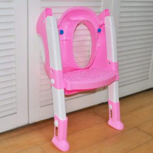 Vastra 2 in 1 Foldable Potty Trainer Seats for Toilet Stand Seat with Ladder for Kids