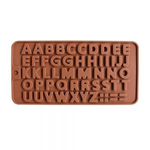 Vastra Silicone Alphabets Shape Chocolate, Jelly, Candy, Cake Baking Mould, Standard Size