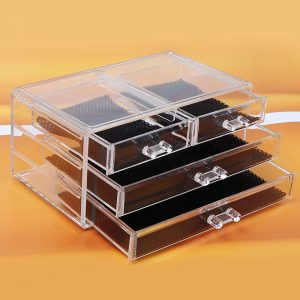 Vastra Acrylic Cosmetic Makeup Jewelry Lipstick Storage Organizer Holder Box