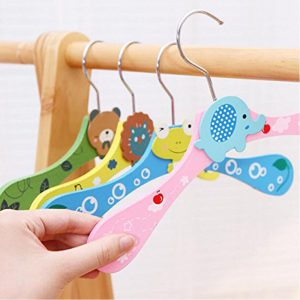Vastra  Cartoon Animal Children Hanger Infant Kids Wooden Coat Clothes Hooks Living Room Bathroom