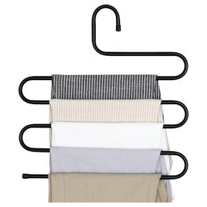 Vastra Iron stainless steel s multi-layered pants rack pants hanger rack multifunction S-type magic pants rack lengthened
