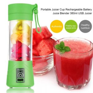 Portable USB Juicer Bottle Blender | Rechargeable USB Juicer Blender Bottle with USB Charging Cable | Juicer Grinder Mixer Blender Juice Cup (380 ml)