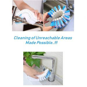 Vastra Nylon Flexible Cleaning Brush for Home, Kitchen and Bathroom