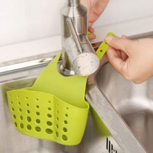 Vastra Hanging Drainage Bag for Kitchen Bathroom Sponge Soap Water Draining Hanging Holder Organizer for Faucet Sink, Caddy Organizer, Kitchen Accessories