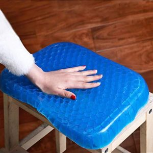 Vastra ushion Seat Flex Pillow, Gel Orthopedic Seat Cushion Pad for Car, Office Chair, Wheelchair, or Home. Pressure Sore Relief. Ultimate Gel Comfort
