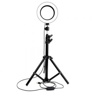 Phone Photography Pendant Tripod Stand Work Led Circle Selfie Ring Light